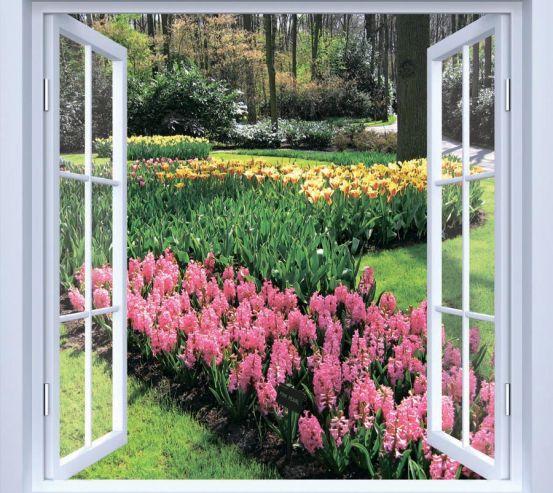 Фотообои Вид на цветы 19696