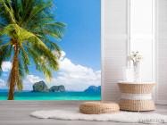 Фотошпалери пальма на березі моря - 2