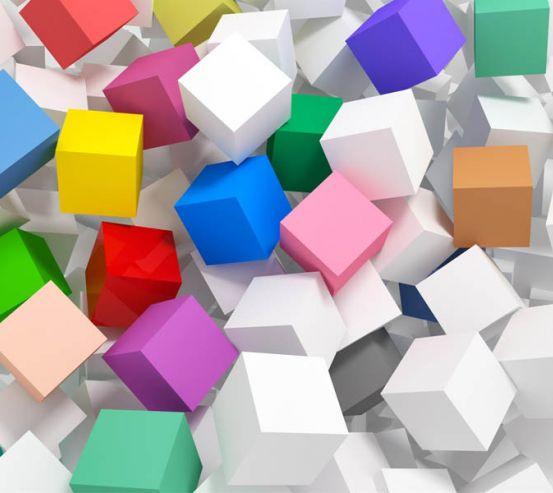 Фотообои Разноцветные кубы 29444