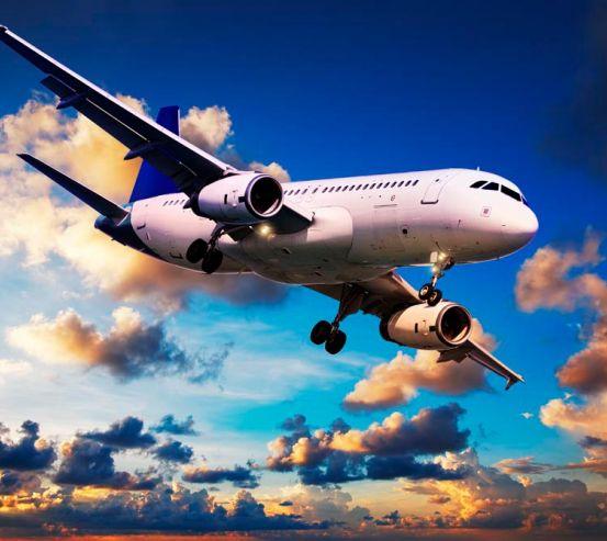 Фотообои Самолет в облаках 9391