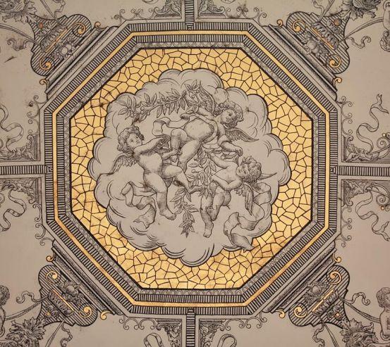Фотообои Винтажный принт на потолок 20436
