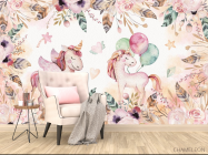Фотообои Розовые пони - 4