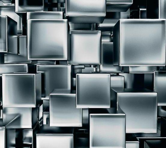 3д фотообои Серые кубы 8801