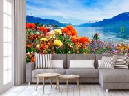 Фотообои Море цветов, горы - 3