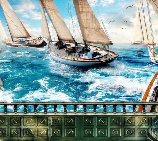 Фотообои Корабль 18848