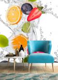Фотообои фрукты с водой - 4