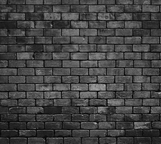Фотошпалери Чорна цегляна стіна 20230