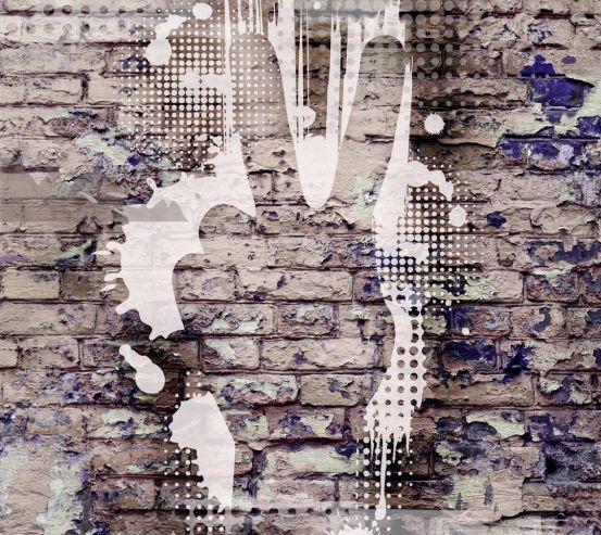 Фотошпалери Графіті на цегляній стіні 20541