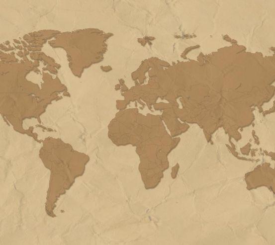 Стилізація континентальної карти 12511