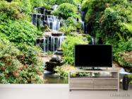 Фотообои водопад среди зелени - 2