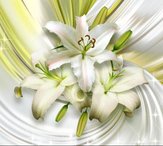 Фотообои 3d лилии 18763