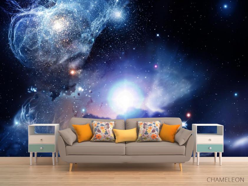 Фотообои космос с яркой звездой - 1