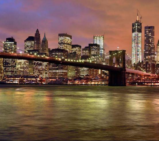 Фотообои Ночной мост New York 11279
