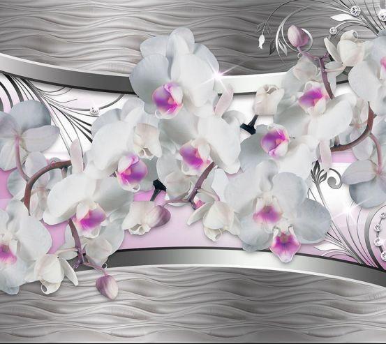 Фотообои Орхидея и абстракция 3d 18754