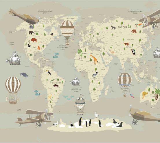Фотообои Карта в детскую  24134