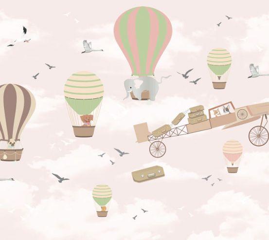Фотошпалери Повітряні кульки для дівчинки 24056