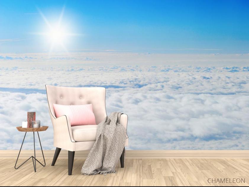 Фотообои солнце над облаками - 4