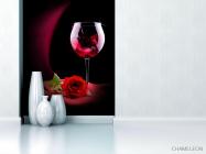 Фотообои красное вино и роза - 1