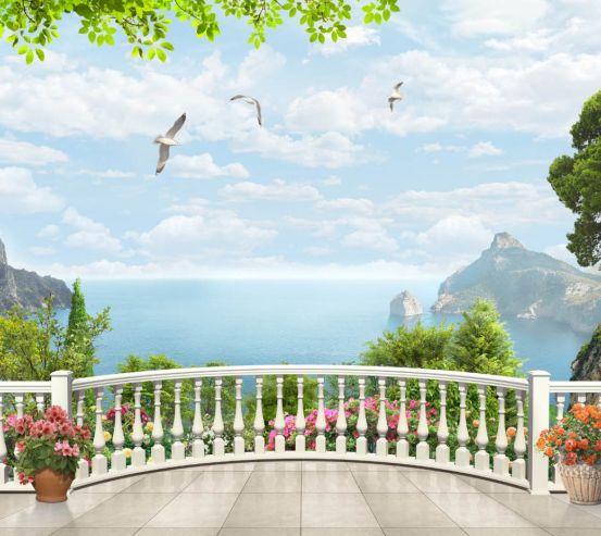 Фотообои Вид с балкона на море 24476