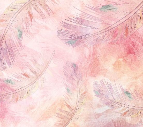 Фотошпалери Пір'я рожеві 28026