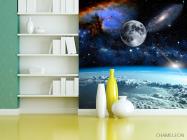 Фотообои космос и луна над олаками - 3