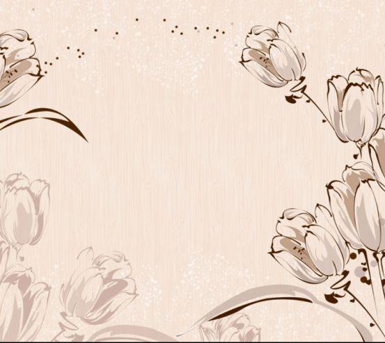 Фотообои Векторные тюльпаны 3Д 19987