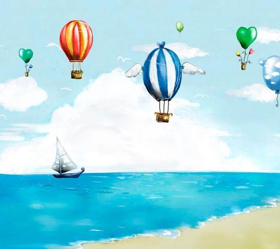 Фотообои Разноцветные воздушные шары 19264