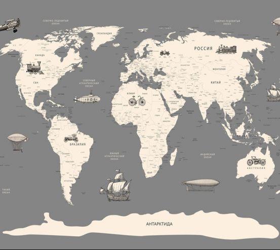 Фотообои Карта в детскую  24146
