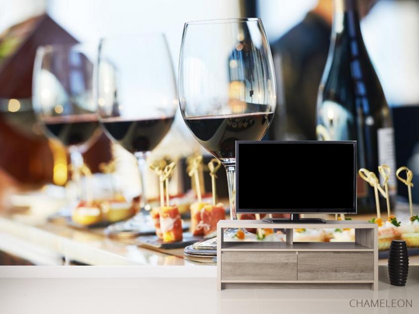 Фотообои вино и тарталетки - 2