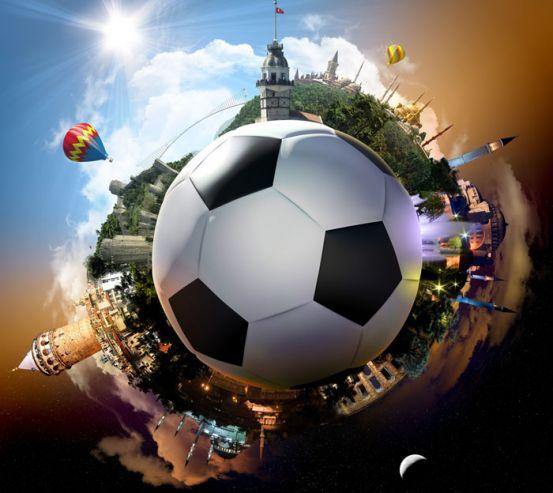 Фотообои Мяч и путешествия 12774