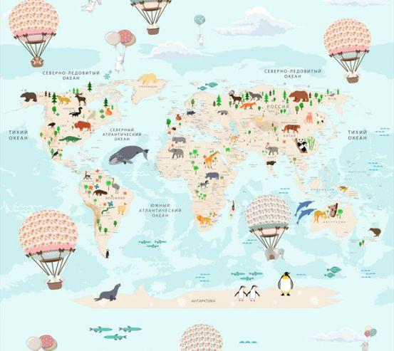 Фотообои Карта в детскую  24153