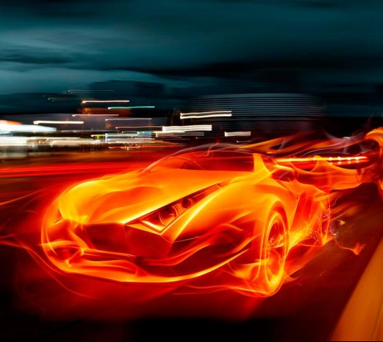 Фотообои Огненный автомобиль 2031