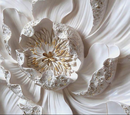 Фотообои Макро керамический цветок 22450