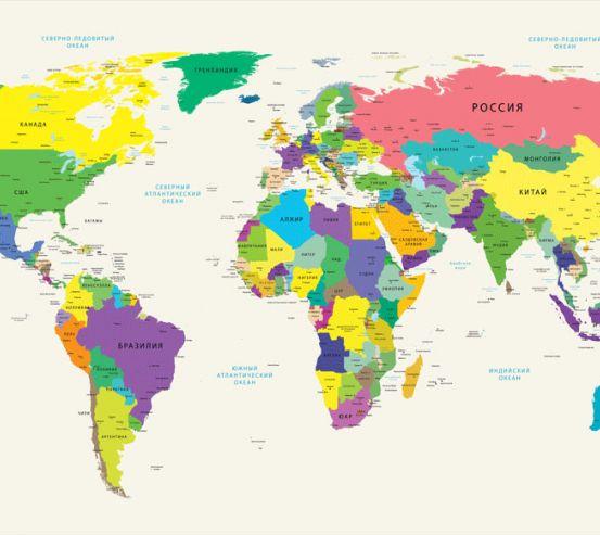 Фотообои Карта в детскую  24150