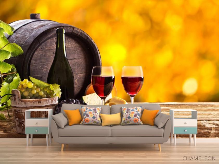 Фотообои вино в бочке - 1
