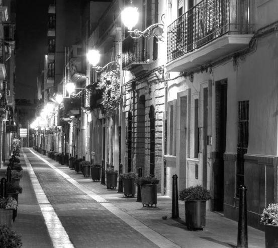 Фотообои Ночная красивая улочка 9593