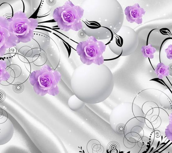 Фотообои розы, 3д фон 23900