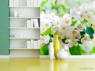 Фотообои Абрикосовые маленькие цветы - 3