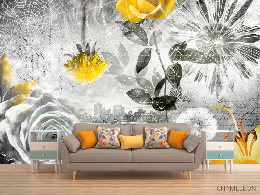 Фотообои 3d цветочная композиция - 1