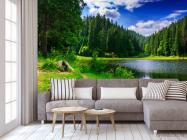 Фотообои озеро и лес - 3