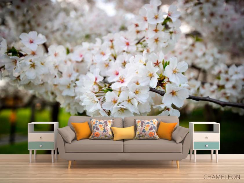 Фотообои Абрикосовые маленькие цветочки - 1
