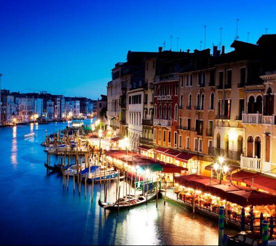 Фотообои Кафе у воды, Венеция 7856