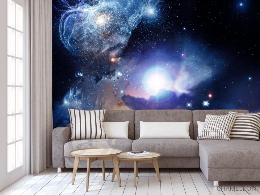 Фотообои космос с яркой звездой - 3