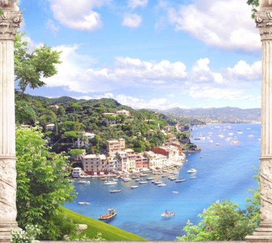 Фотообои Вид с балкона на море 22782
