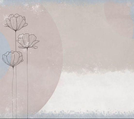 Фотообои Дизайнерский принт с цветами 28196
