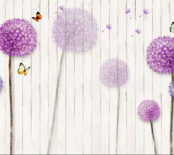 Фотообои цветные одуванчики 27609