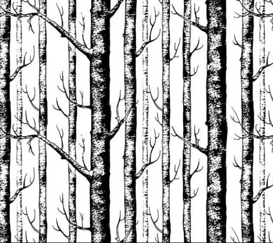 Фотообои Паттерн из деревьев 22418