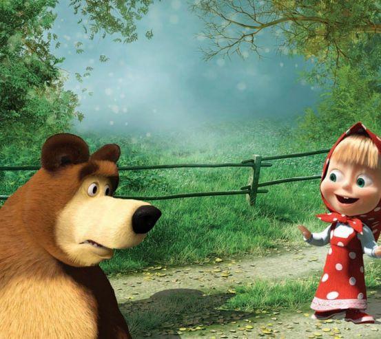 Фотообои Маша и медведь 10074