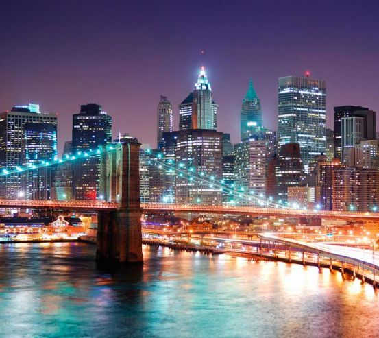 Фотообои Ночные мосты New Yorkа 1959