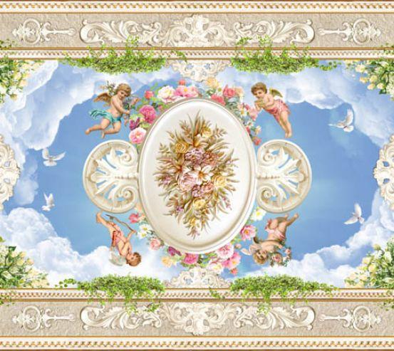 Фотообои ангелочки для потолока 22518